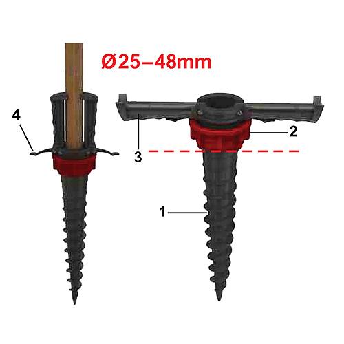 Kotva TT003048 • 25-48 mm, zemná, plast