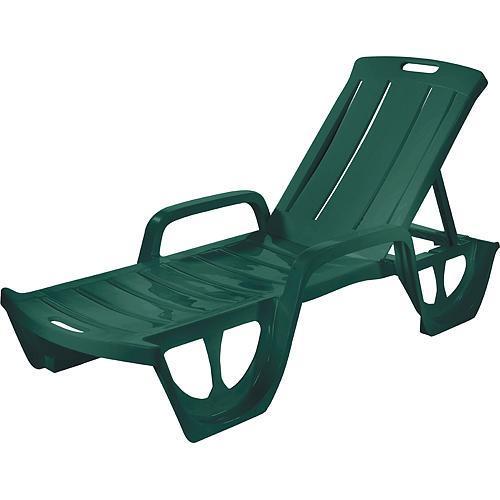 Ležadlo Curver® FLORIDA, zelené, plast, lehátko