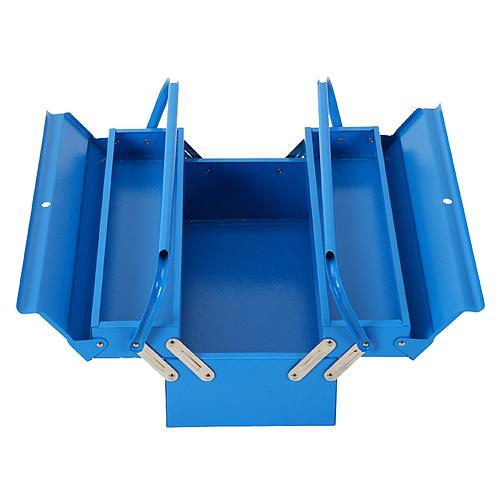 Kufor na náradie TB102F, 430x200x160 mm, 3 dielny, kovový box