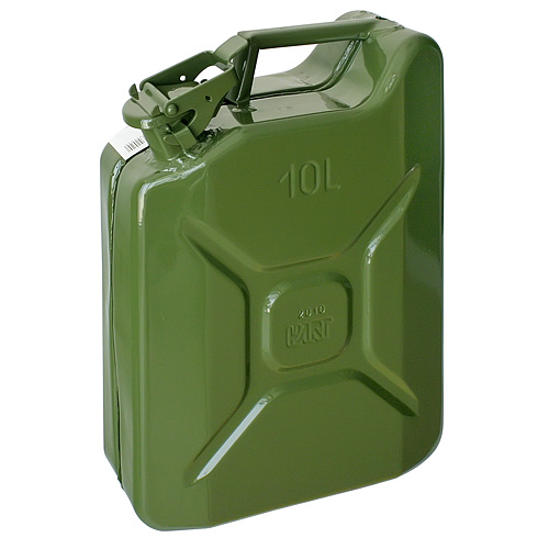 Kanister Jerican 20 lit, kovový, na PHM, GS/TUV, zelený, RAL6003