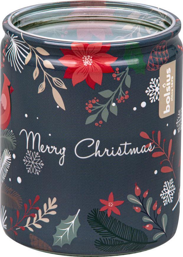 Sviečka Bolsius Starlight Čarovné Vianoce, v skle, 23 hod., 68x82 mm