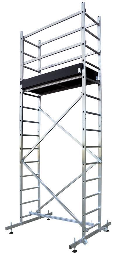 Lešenie s plošinou Strend Pro RDALD Zeus, hliníkové, 473 cm, max. 150 kg, TUV