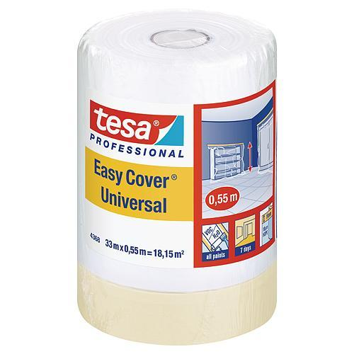 Fólia tesa® Pro Easy Cover® Universal, s páskou, 550 mm, L-33 m, transparentná