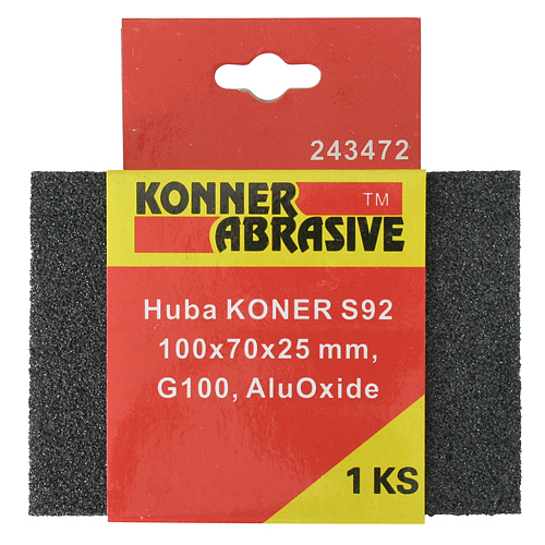 Huba KONNER S92 100x70x25 mm, G100, AluOxide, brúsna špongia
