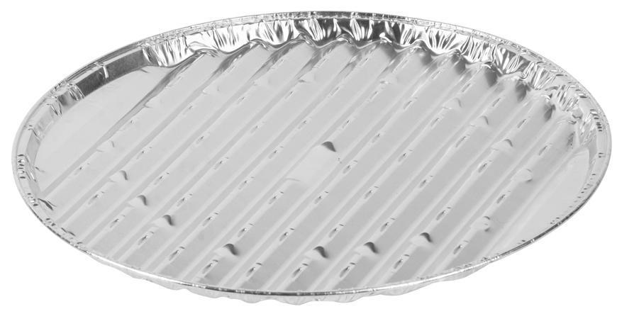 Miska MagicHome 33x1.5 cm, 3 ks, okrúhla, perforovaná, ALU