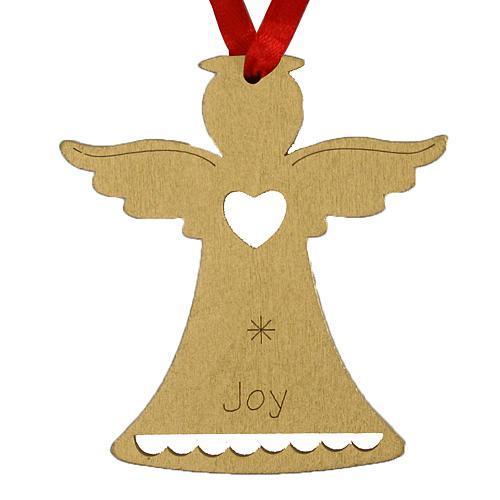 Ozdoba MagicHome Vianoce, Anjel JOY, závesná, zlatá, bal. 5 ks