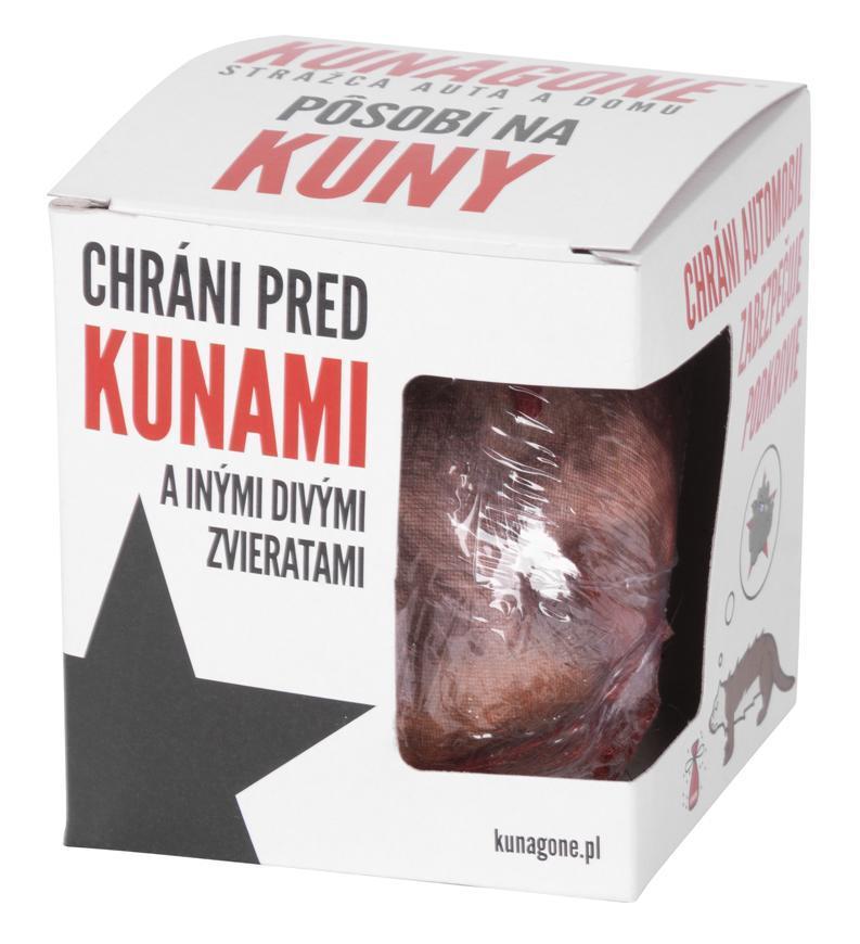 Odpudzovač KUNAGONE, prípravok proti kunám a iným zvieratám, sellbox 12ks