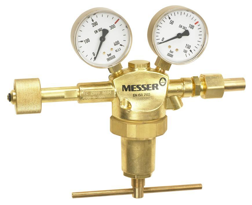 """Ventil Messer 717.06710, G1/2"""", 100bar, Dusik/Och. plyn, vstup 300bar"""