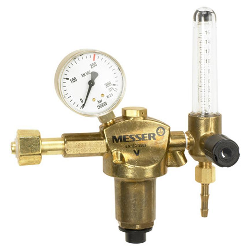 "Ventil Messer 716.20115, G3/8"" LH, DN8, 16 l/min, Vodík"