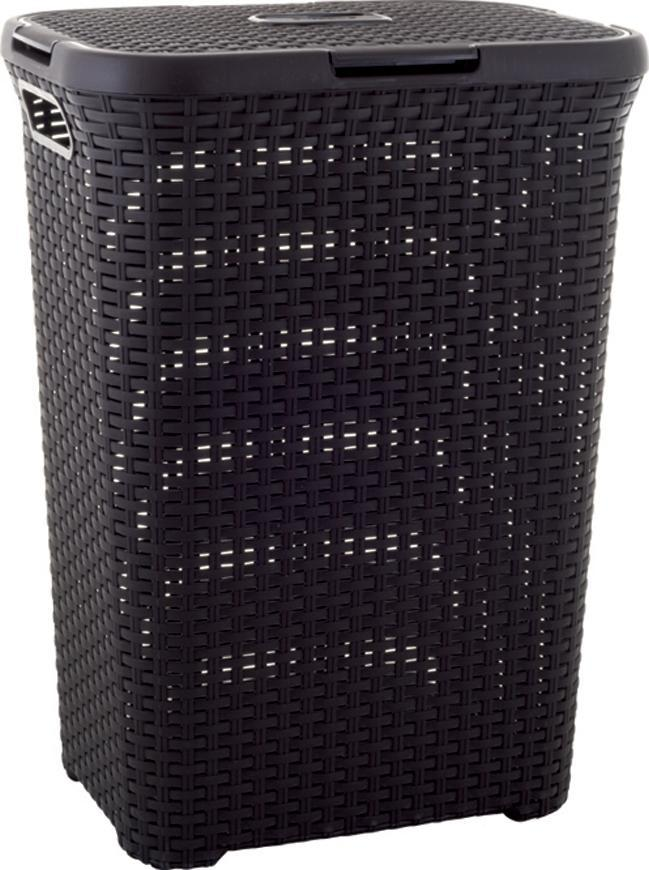 Kôš Curver® NATURAL STYLE 60L, tmavohnedý, 44x61x34 cm, na bielizeň, prádlo