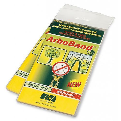 Doska ArboBand®, lepová na ochranu stromov pred škodcami, Poison-Free, bal. 5 ks (NAHRADA 090061)