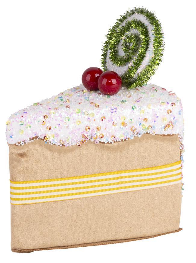 Dekorácia MagicHome Candy Line, koláčik, hnedý, 13x9x15 cm, závesný