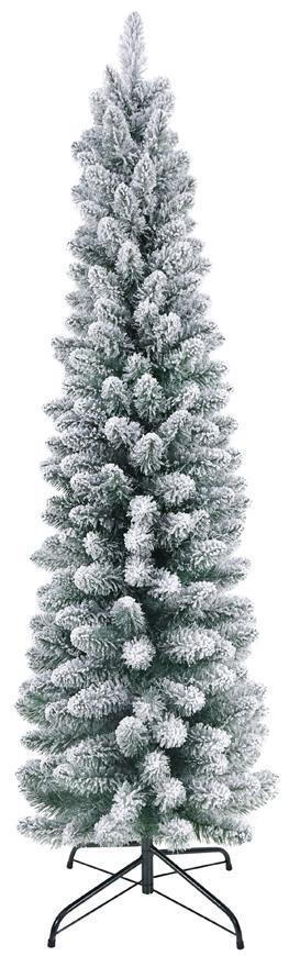 Stromček MagicHome Vianoce Claus, jedľa zasnežená, kovový stojan,  180 cm
