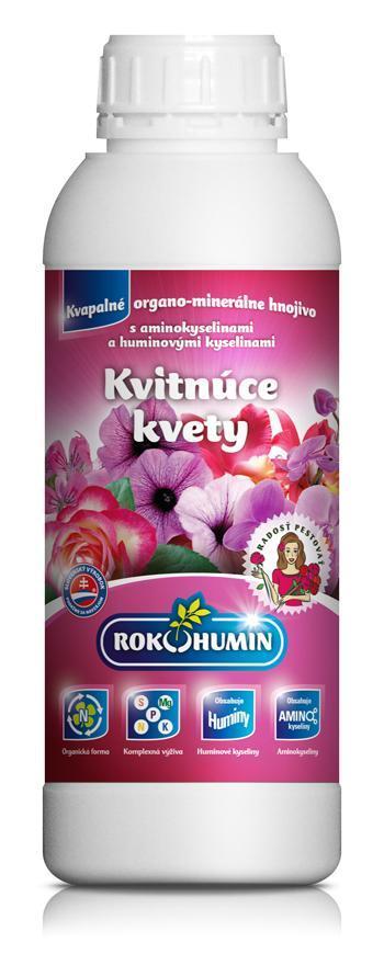 Hnojivo Rokohumin Kvitnúce kvety, 1 lit
