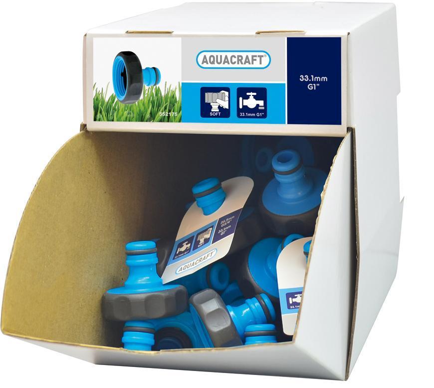 "Adaptér SoftTouch 1"", AQUACRAFT® 552175, Display box 70 ks"