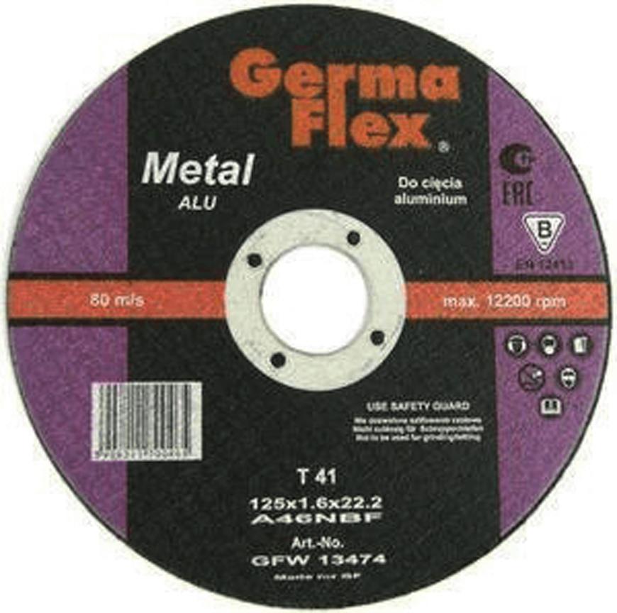 Kotuc GermaFlex Aluminium T41 125x1,6x22,2 mm, A46NALU BF, hlinik