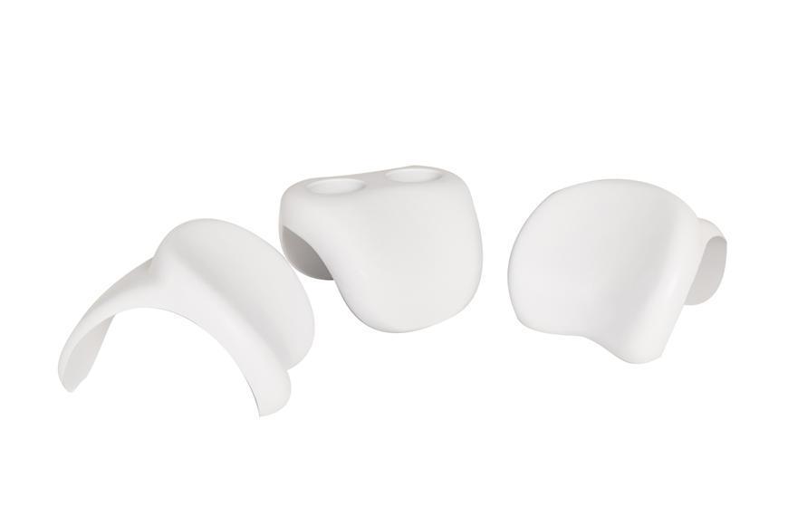 Sada MSpa® B0301350, 2x opierka hlavy, držiak na poháre, silikon