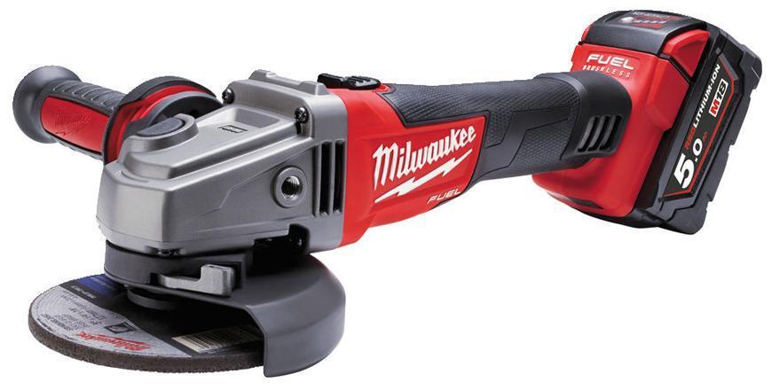 Bruska Milwaukee® M18 CAG115X-502X, 2x5.0Ah, uhlová