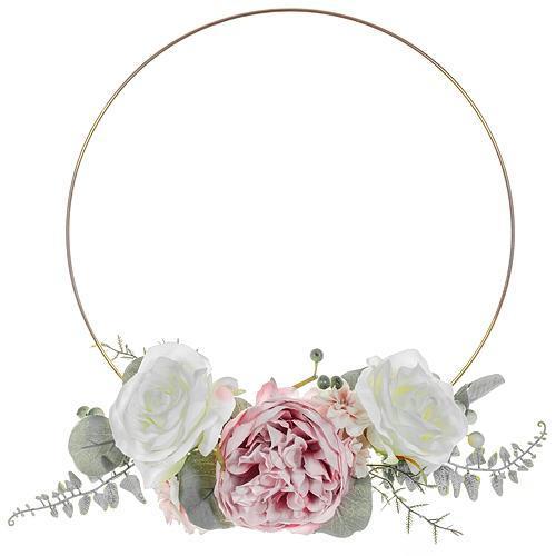 Závesná dekorácia 25 cm, kvety