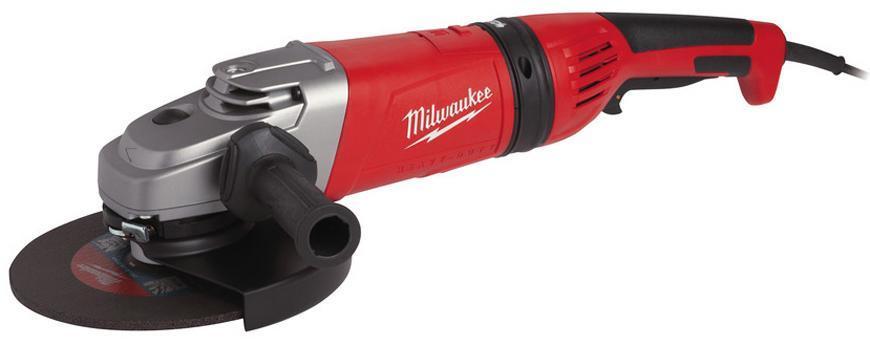 Bruska Milwaukee® AGV 21-230 GEX/DMS, 230 mm, 2100W, Protector-motor, uhlová