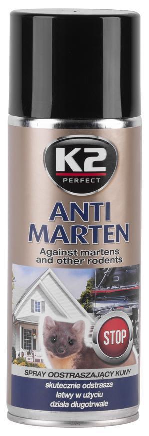 Odpudzovač K2 PERFECT Anti Marten, prípravok proti kunám, 400 ml