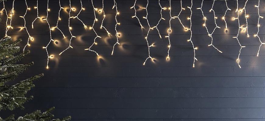 Retaz MagicHome Icicle Light 480L LED teplá biela, 12M, IP44, časovač, exteriér