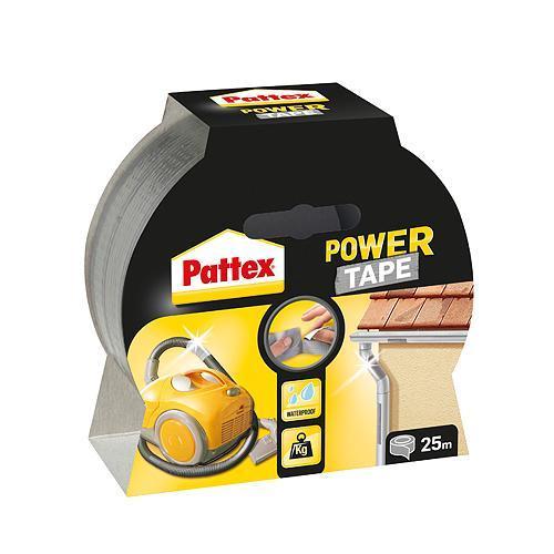 Paska Pattex® Power Tape, 50 mm, L-25 m, strieborná