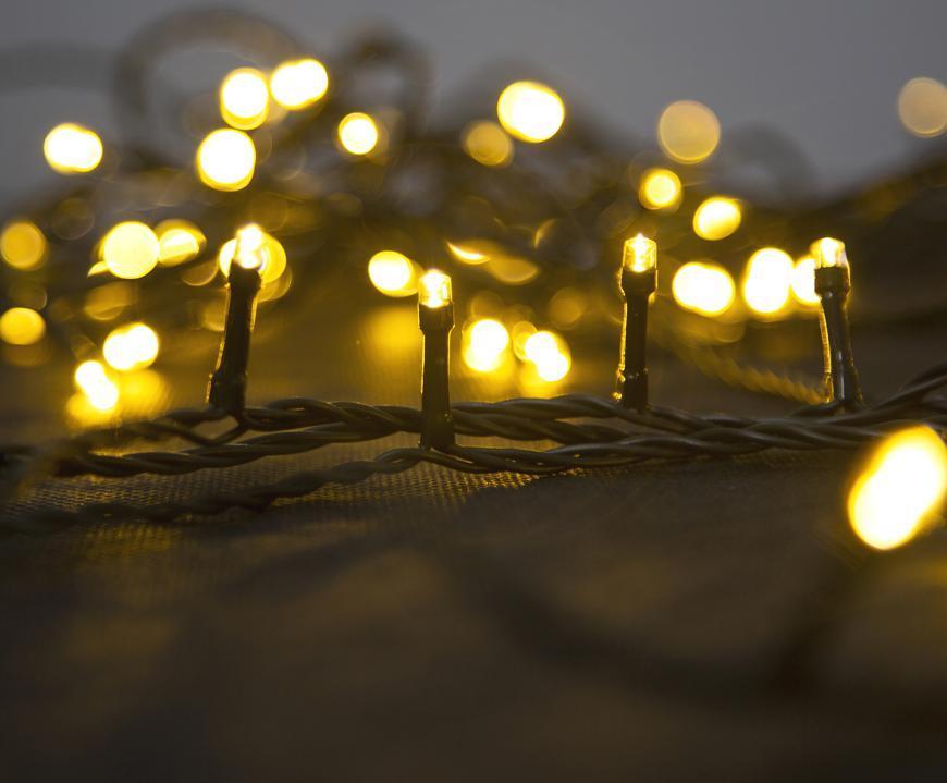 Reťaz MagicHome Vianoce Errai, 1200 LED teplá biela, 8 funkcií, 230 V, 50 Hz, IP44, exteriér, L-24 m