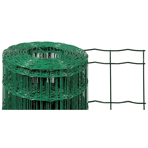 Pletivo EUROPLAST 2, 2000/100x50/2,20 mm, zelene, RAL 6005, Zn+PVC, ohradove, bal. 25 m