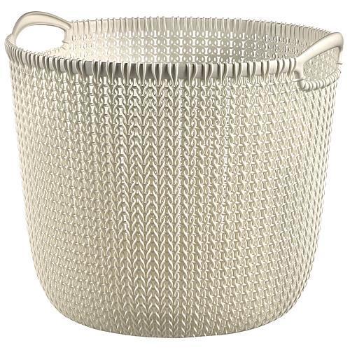 Košík Curver® KNIT 30L, krémový, 40x39x33 cm