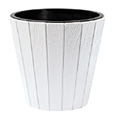 Kvetináč WOODE 490, 54 lit, biely, vložka