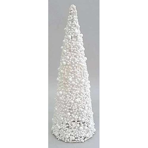 Dekoracia MagicHome X9108, TreeCone30.White, biela, bobuľky, 30 cm