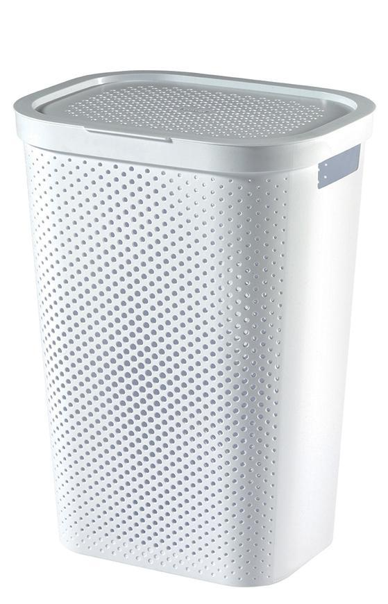 Kôš Curver® INFINITY RECYCLED 60L, biely, 44x60x35 cm, na bielizeň, prádlo