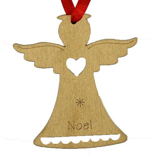 Ozdoba MagicHome Vianoce, Anjel NOEL, závesná, zlatá, bal. 5 ks