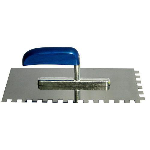 Hladítko InoX 280x130 mm, e10, modrá rúčka, nerez