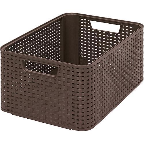 Košík Curver® STYLE2 M, tmavohnedý, 38x29x17 cm