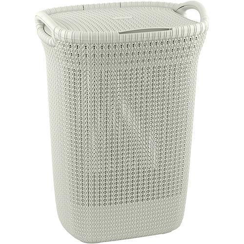 Kôš Curver® KNIT 3676 57L, krémový, 45x61x34 cm, na bielizeň, prádlo