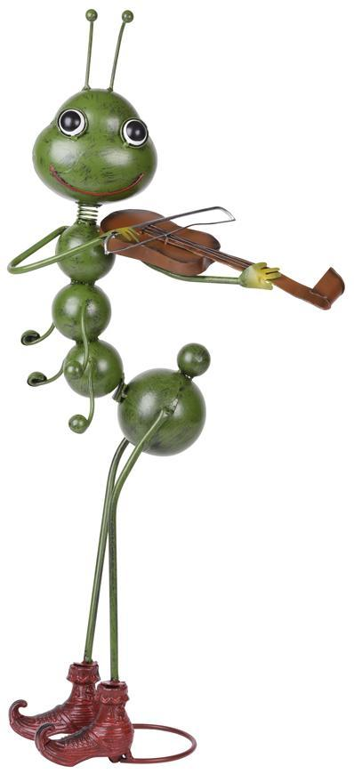 Dekoracia Mecco 3525, Mravec s husľami, 68 cm, plech