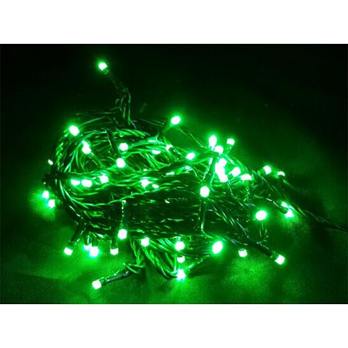 Reťaz MagicHome Vianoce Orion, 100 LED zelené, 8 funkcií, 230V, 50 Hz, IP20, interiér, L-10 m