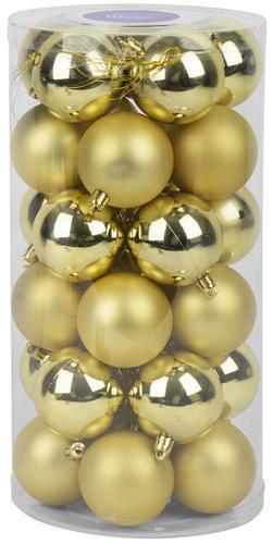 Gule MagicHome XD194, 30 ks, 6 cm, zlaté, na vianočný stromček