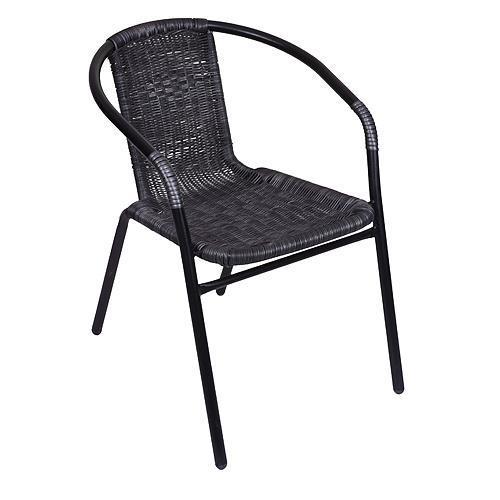 Stolička LEQ ALESIA, 52x55x73 cm, šedá, 120 kg