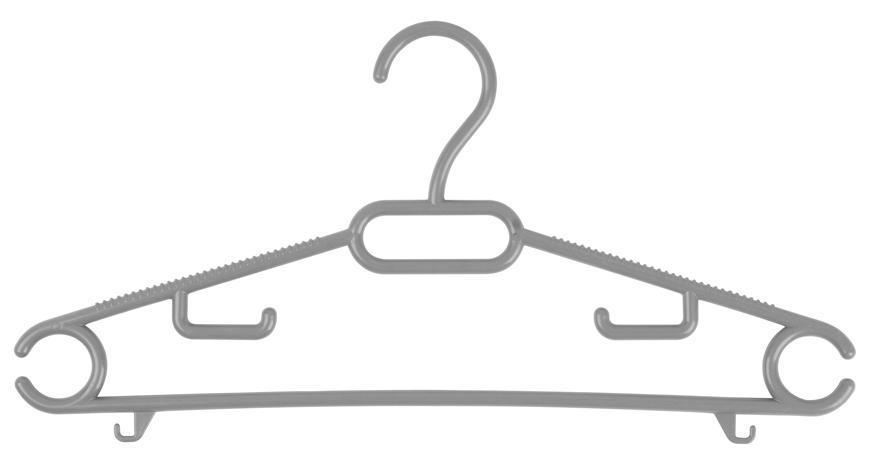 Vesiak PFF, na oblecenie, plastovy, detsky, cierny/hnedy/sivy, bal. 6ks