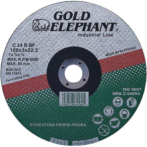 Kotúč Gold Elephant 42C T42 115x2,5x22,2 mm, rezný na kameň