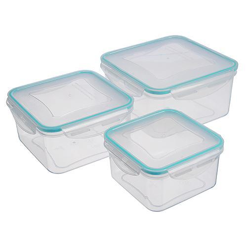 Doza MagicHome Lunchbox set 06x3 0,70/1,20/2,00 lit, sada 3 ks, štvorcové, Clip