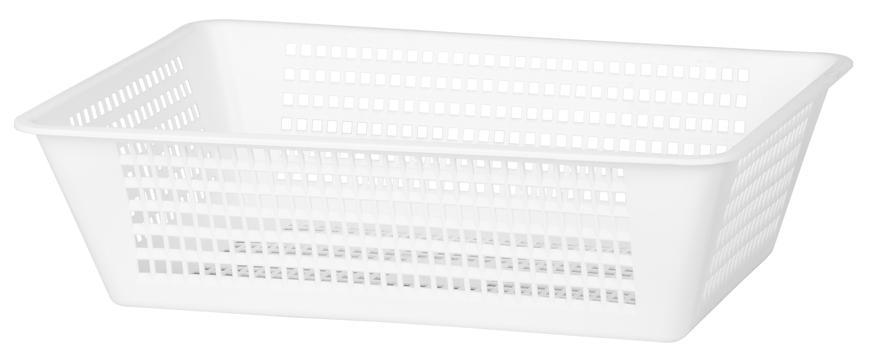 Kôš na bielizeň ICS M47247, biely, 47x32x14 cm