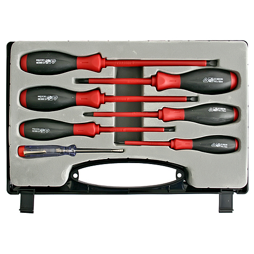 Sada skrutkovačov Strend Pro SD9955, VDE 6 dielna, ploché + Phillips + skúšačka, elektrikárska, 1000