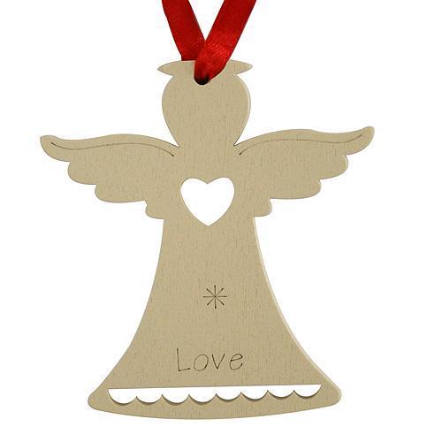 Ozdoba MagicHome Vianoce, Anjel LOVE, závesná, bal. 5 ks