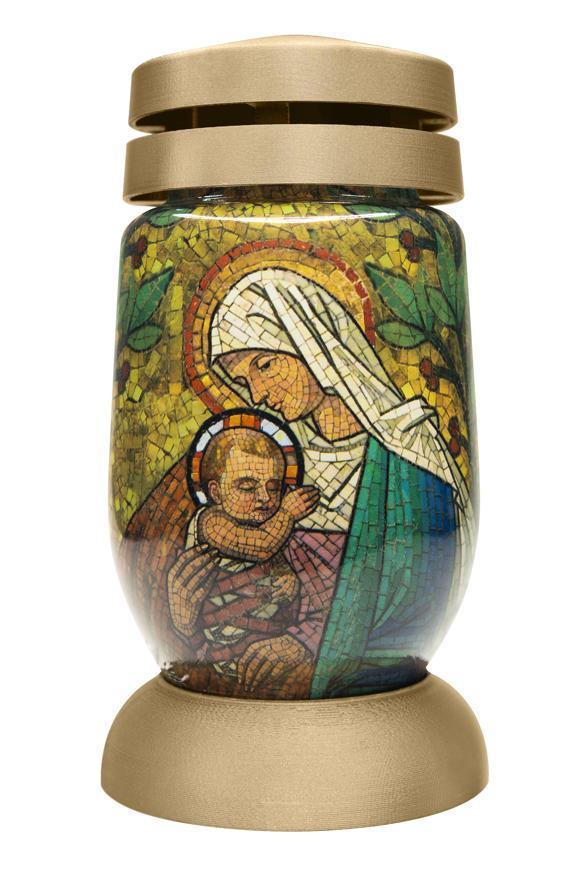 Kahanec bolsius S03 3D Mária s Ježišom, vitráž
