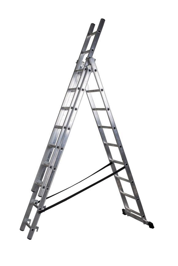 Rebrík Strend Pro DP 3x09, Alu, EN 131 max. 5.30 m, BASIC