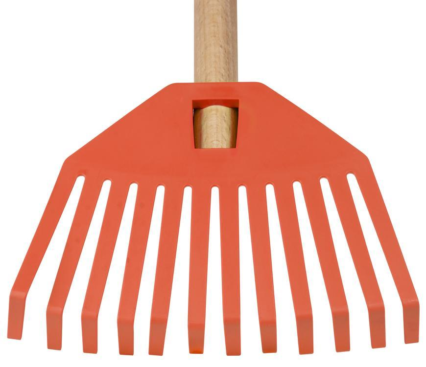 Hrable GECO 23352, 195x14x780, detské, plastové, oranžové, s násadou